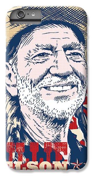 Johnny Cash iPhone 6s Plus Case - Willie Nelson Pop Art by Jim Zahniser