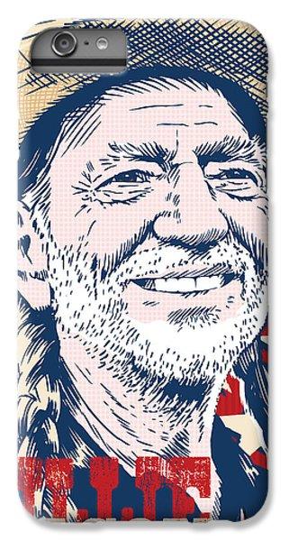 Willie Nelson Pop Art IPhone 6s Plus Case by Jim Zahniser