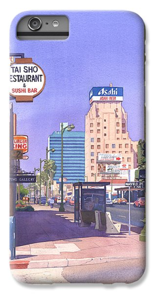 Beverly Hills iPhone 6s Plus Case - Wilshire Blvd At Mansfield by Mary Helmreich