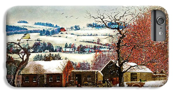Folk Art iPhone 6s Plus Case - Winter In The Country Folk Art by Lianne Schneider