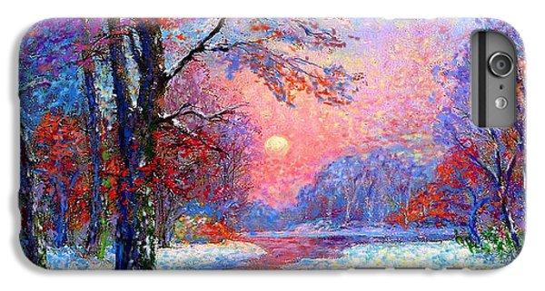 Impressionism iPhone 6s Plus Case - Winter Nightfall, Snow Scene  by Jane Small