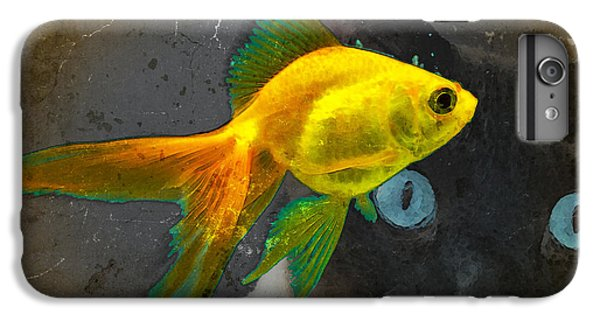 Goldfish iPhone 6s Plus Case - Wishful Thinking - Cat And Fish Art By Sharon Cummings by Sharon Cummings