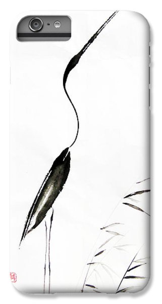 Egret iPhone 6s Plus Case - With My Head Held High by Oiyee At Oystudio