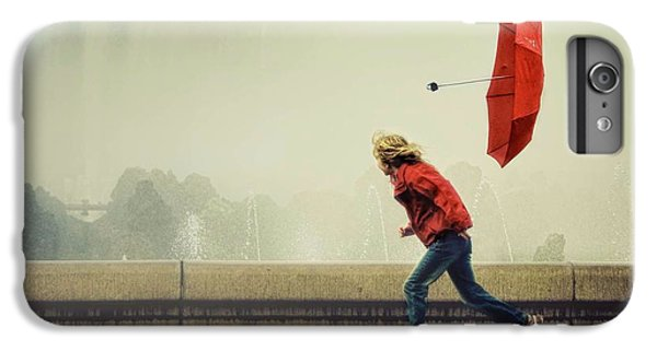 Umbrella iPhone 6s Plus Case - With The Wind by Ambra