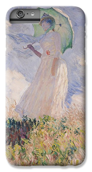 Umbrella iPhone 6s Plus Case - Woman With Parasol Turned To The Left by Claude Monet