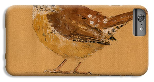 Wren iPhone 6s Plus Case - Wren Bird by Juan  Bosco