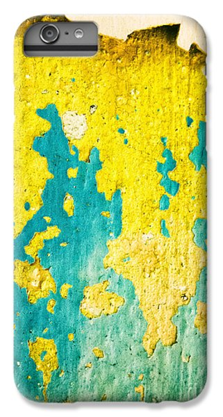 IPhone 6s Plus Case featuring the photograph Yellow And Green Abstract Wall by Silvia Ganora