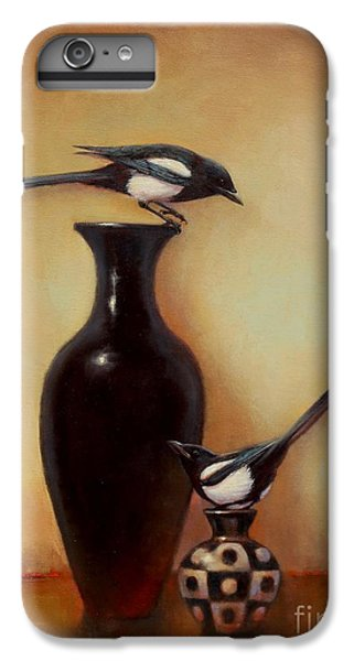 Magpies iPhone 6s Plus Case - Yin Yang - Magpies  by Lori  McNee