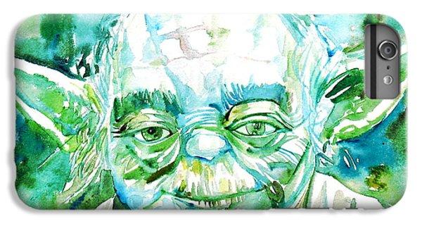 Yoda Watercolor Portrait IPhone 6s Plus Case