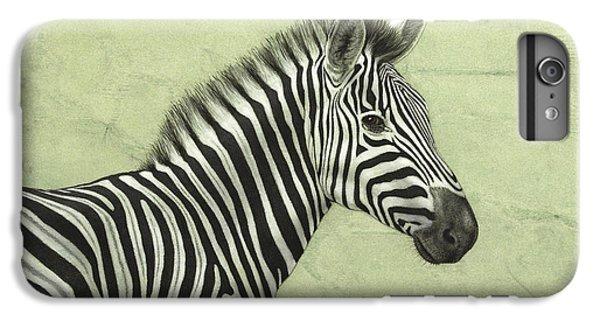 Zebra IPhone 6s Plus Case by James W Johnson