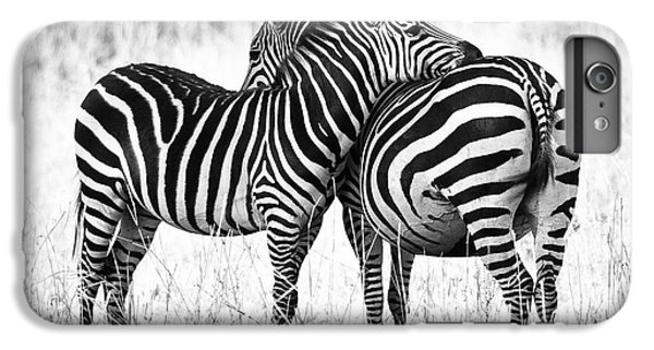 White iPhone 6s Plus Case - Zebra Love by Adam Romanowicz