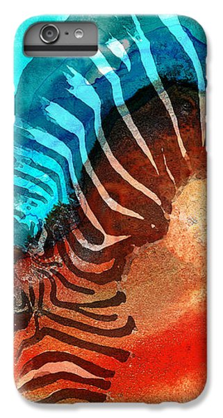 Zebra iPhone 6s Plus Case - Zebra Love - Art By Sharon Cummings by Sharon Cummings