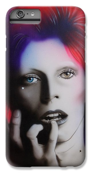 Celebrities iPhone 6s Plus Case - Ziggy Stardust by Christian Chapman Art