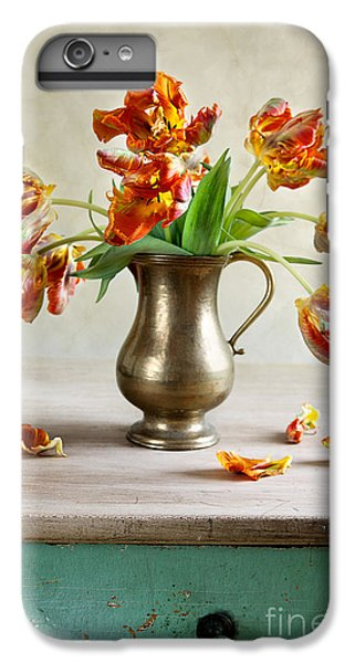 Tulip iPhone 6s Plus Case - Still Life With Tulips by Nailia Schwarz