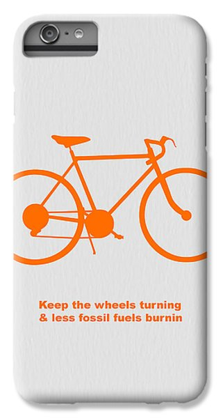 Bicycle iPhone 6s Plus Case - Keep The Wheels Turning by Naxart Studio