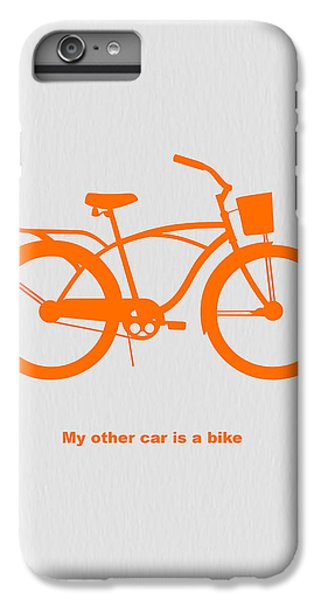 Bicycle iPhone 6s Plus Case - My Other Car Is Bike by Naxart Studio