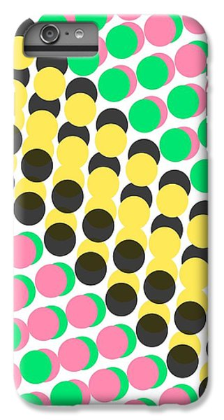 Overlayed Dots IPhone 6s Plus Case by Louisa Knight