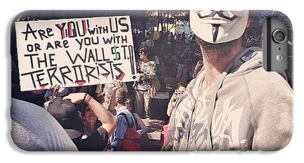 Place iPhone 6s Plus Case - Ows Occupy Wall Street by Randy Lemoine