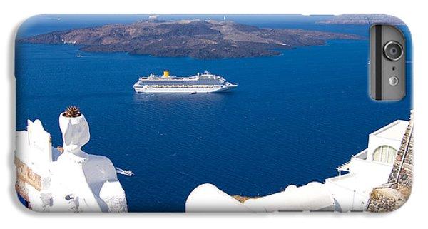 Greece iPhone 6s Plus Case - Santorini Cruising by Meirion Matthias