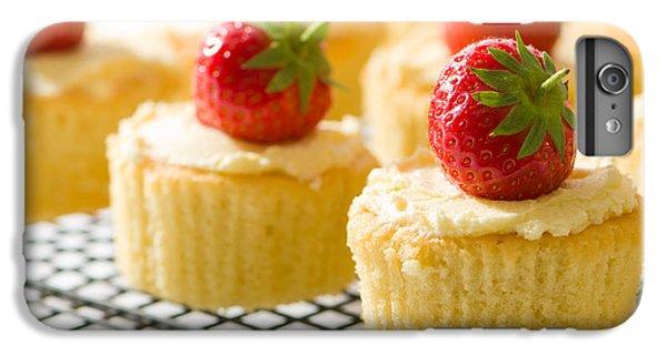 Fairy Cake iPhone 6s Plus Case - Strawberry Cupcakes by Amanda Elwell