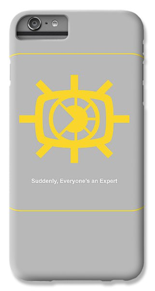 Harvard iPhone 6s Plus Case - Suddenly Everyone Is An Expert by Naxart Studio