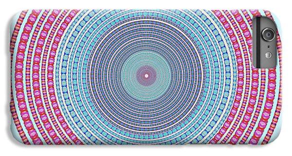 Space iPhone 6s Plus Case - Vintage Color Circle by Atiketta Sangasaeng