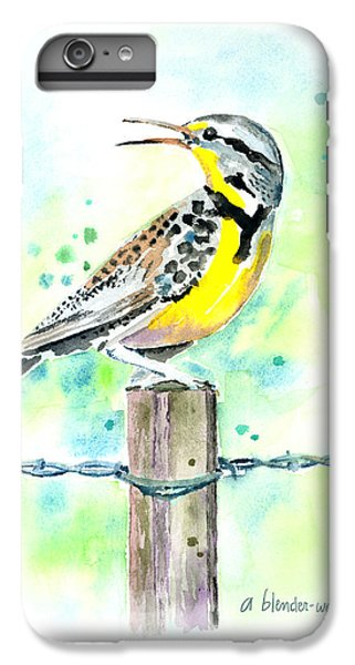 Western Meadowlark IPhone 6s Plus Case by Arline Wagner