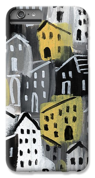 Town iPhone 6s Plus Case -  Rainy Day - Expressionist Art by Linda Woods