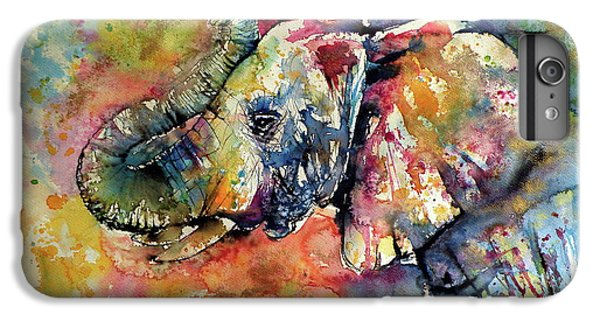 Animals iPhone 6s Plus Case - Big Colorful Elephant by Kovacs Anna Brigitta