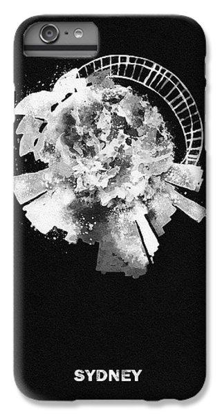 Sydney Skyline iPhone 6s Plus Case - Black Skyround Art Of Sydney, Australia by Inspirowl Design