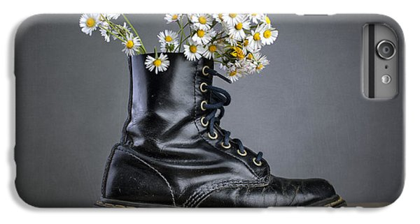 Daisy iPhone 6s Plus Case - Boots With Daisy Flowers by Nailia Schwarz