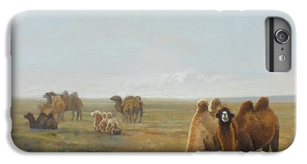 Camel iPhone 6s Plus Case - Camels Along The River by Chen Baoyi