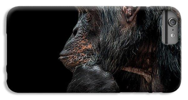 Chimpanzee iPhone 6s Plus Case - Contemplation  by Paul Neville