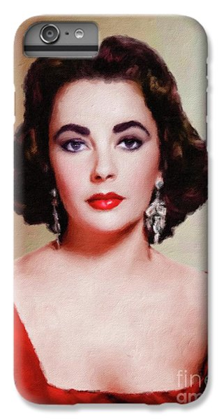 Elizabeth Taylor Hollywood Actress IPhone 6s Plus Case by Mary Bassett