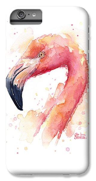 Flamingo iPhone 6s Plus Case - Flamingo Watercolor  by Olga Shvartsur