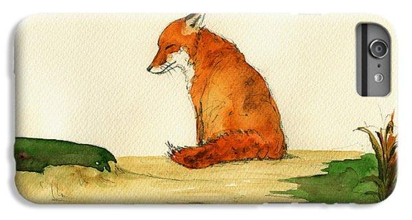 Fox iPhone 6s Plus Case - Fox Sleeping Painting by Juan  Bosco
