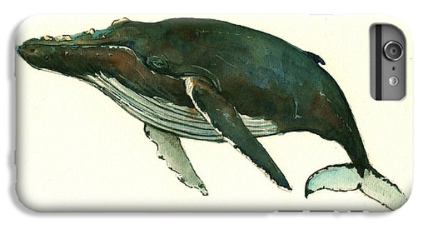 Humpback Whale  IPhone 6s Plus Case by Juan  Bosco