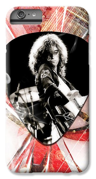 Jimmy Page iPhone 6s Plus Case - Jimmy Page Led Zeppelin Art by Marvin Blaine
