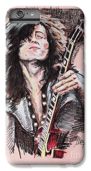Jimmy Page iPhone 6s Plus Case - Jimmy Page by Melanie D