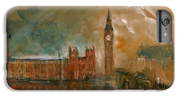 London Watercolor Painting IPhone 6s Plus Case by Juan  Bosco