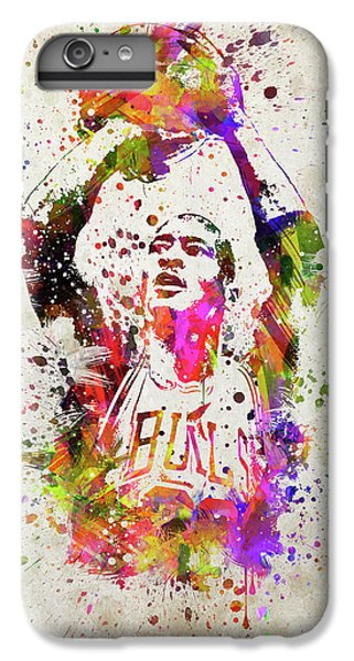 Michael Jordan In Color IPhone 6s Plus Case by Aged Pixel