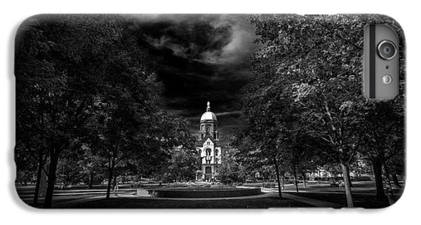 Notre Dame University Black White IPhone 6s Plus Case by David Haskett