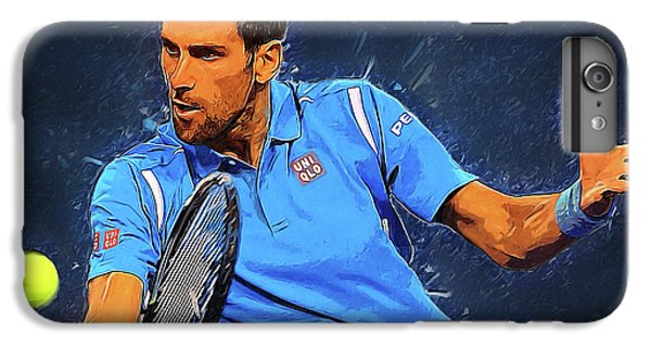 Serena Williams iPhone 6s Plus Case - Novak Djokovic by Semih Yurdabak