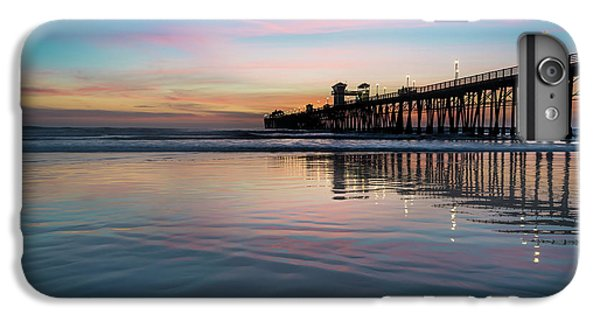 Ocean Sunset iPhone 6s Plus Case - Oceanside Pier Sunset by Larry Marshall