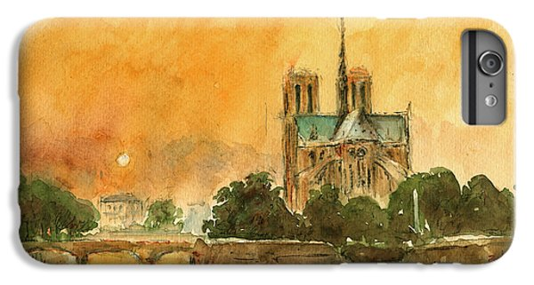 Paris Notre Dame IPhone 6s Plus Case by Juan  Bosco