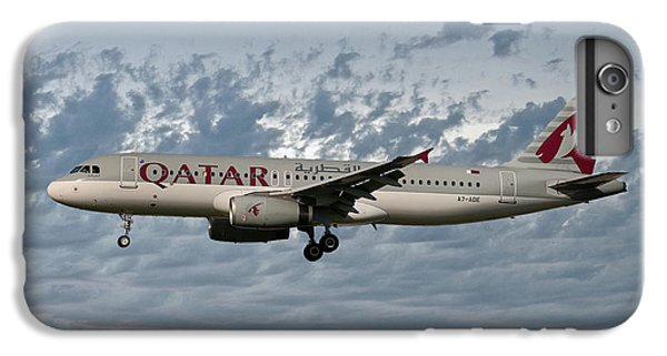 Jet iPhone 6s Plus Case - Qatar Airways Airbus A320-232 by Smart Aviation