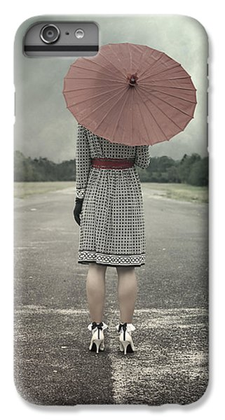 Umbrella iPhone 6s Plus Case - Red Umbrella by Joana Kruse