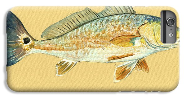Redfish Painting IPhone 6s Plus Case by Juan  Bosco