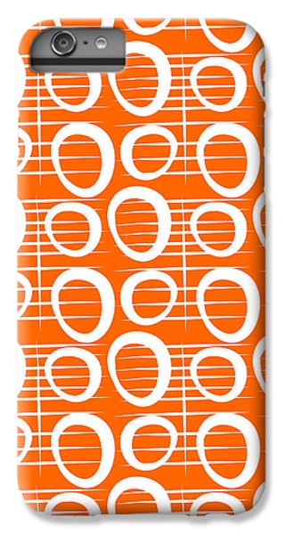 Wood iPhone 6s Plus Case - Tangerine Loop by Linda Woods
