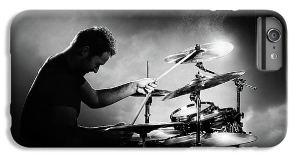 Music iPhone 6s Plus Case - The Drummer by Johan Swanepoel